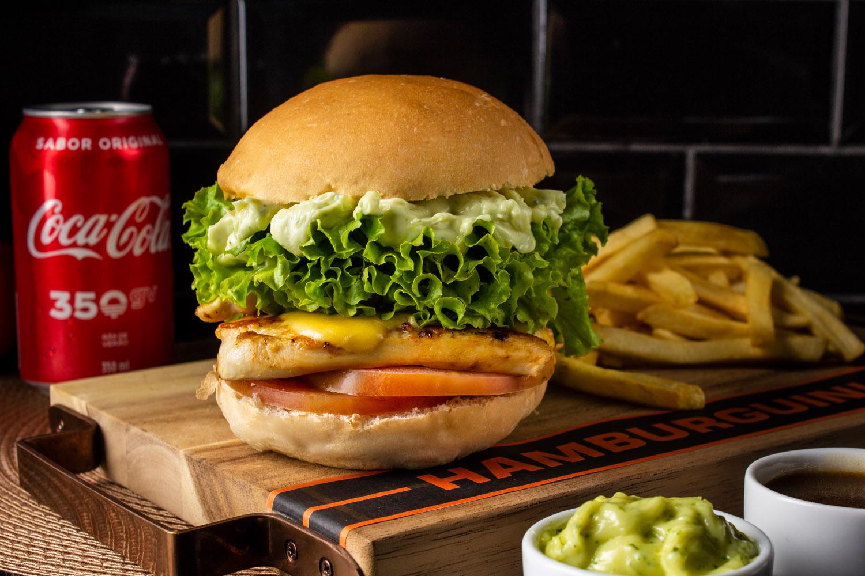 Combo 4 - Cheese Frango Salada + Fritas + Refri